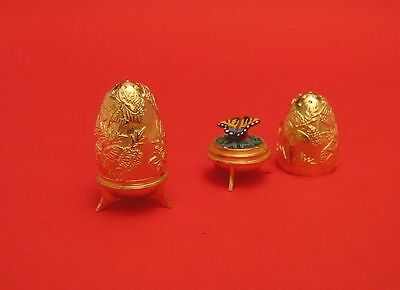 Butterfly Gold Plated Egg Thimble Limited Edition Collectible Thimble New