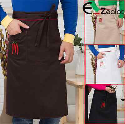 1pc Waist Apron Half Body Apron Waiter Restaurant Bar Cooking Chef Apron