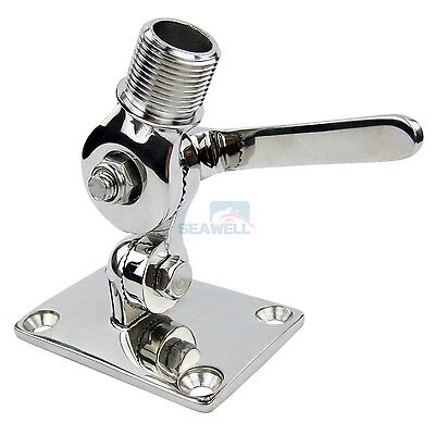 Stainless Steel Marine VHF Antenna Dual Axis Adjustable Base Mount for Boats