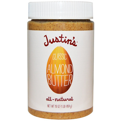 Justin's Nut Butter Classic Almond Gluten Free Vegan Natural Protein Source