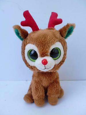 """Ty Beanie Boos Plush Soft Toy Doll Comet Rudolph The Christmas Reindeer 2011 6"""""""