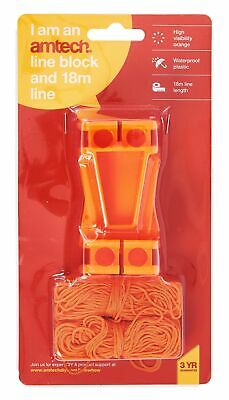 New L Shaped Line Set 2 Corner Block Plastic Brick Laying 18m Lines Builders
