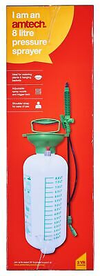 8L Litre Manual Pressure Sprayer Bottle Knapsack Spray Weed Killer Garden