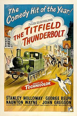 """The Titfield Thunderbolt""  Classic Ealing Comedy Movie Poster A1A2A3A4 Sizes"