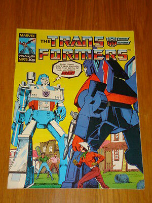 Transformers British Weekly #73 Marvel Uk Comic 1986