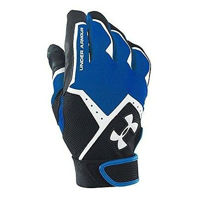 Under Armour Men's Clean-Up VI Batting Gloves, Royal (400), Small