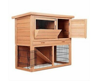 Rabbit Hutch Chicken Coop Cage Guinea Pig Ferret House Storeys Run Playroom