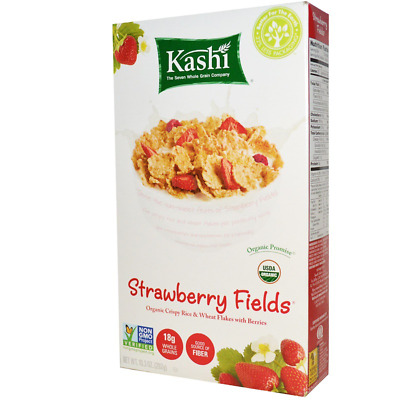 New Kashi Strawberry Fields Cereal Organic Whole Grain Fiber Source Daily Snacks