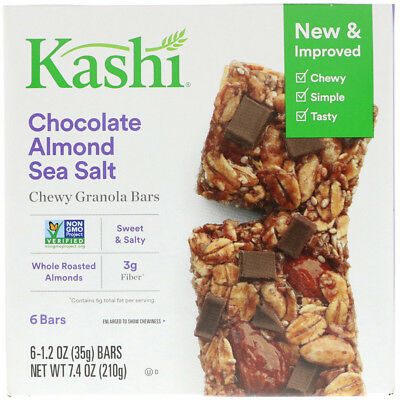 New Kashi Chocolate Almond & Sea Salt With Chia Chewy Granola Bars Snacks Daily