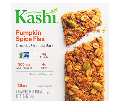 New Kashi Granola Bars Pumpkin Spice Flax Snacks Daily Protein High Frustose