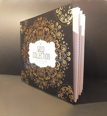 Adult Colouring Book - The Gold Collection Gorgeously Gilded Designs