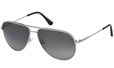 044cb93c21 Authentic TOM FORD Erin Polarized Silver Aviator Sunglasses FT TF 466 - 17D   NEW