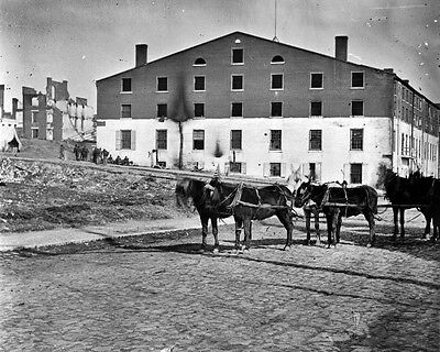 New 11x14 Civil War Photo: Side and Rear View of Libby Prison in Richmond