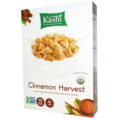 New Kashi Cinnamon Harvest Cereal Breakfast Foods Organic Fiber Daily Care Snack