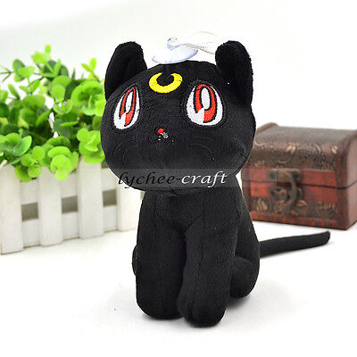 Japanese Anime Sailor Moon Plush Doll Diana Cat Cute Gift Cosplay Black New Gift