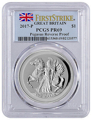 2017 Virgin Islands $1 1 oz. Reverse Proof Silver Pegasus PCGS PR69 FS SKU43243