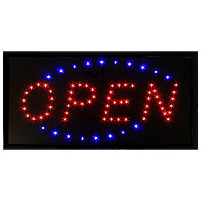 LED OPEN Sign - Blue & Red Flashing - Top Value & V.Eye Catching. Stand Out!