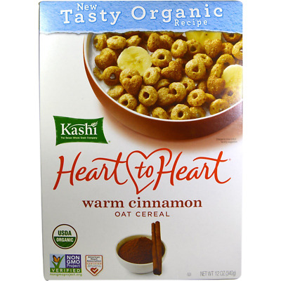 New Kashi Heart To Heart Warm Cinnamon Oat Cereal Organic Vegetarian Daily Snack