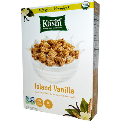 New Kashi Organic Whole Wheat Biscuits Cereal Island Vanilla Breakfast Food Care
