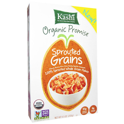 New Kashi Organic Sprouted Grains Cereal Whole Grains Wheat Fiber Source Snacks