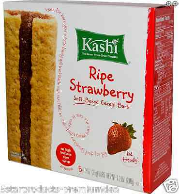 New Kashi All Natural Whole Grain Soft-Baked Cereal Bars Breakfast Foods Snacks