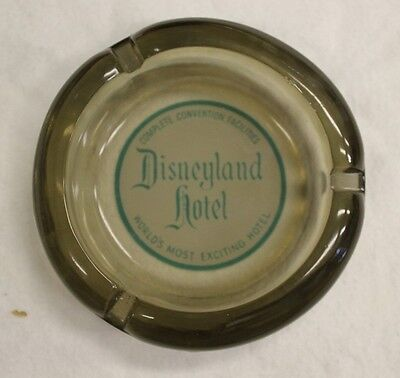 Vintage Disneyland Hotel Ashtray Smoked Glass