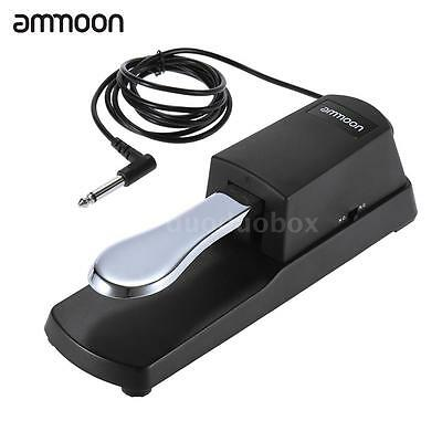 ammoon Piano Keyboard Sustain Damper Pedal for Casio Yamaha Roland Black HOT