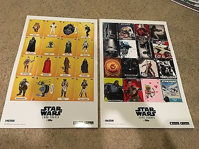 2016 NYCC TOPPS Exclusive Star Wars Card Trader Thick POSTER Print SET 194/2500