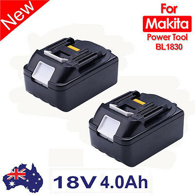 2x For Makita BL1830 BL1835 194230-4 LXT Lithium Ion 3.0Ah Replacement Battery