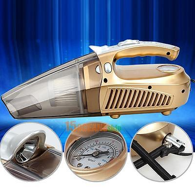 12V Ultra-silence Wet Dry Dual-Use Handheld Car Vacuum Cleaner Golden #ORP