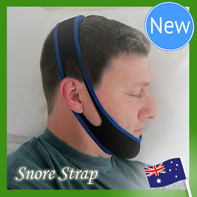 2 x NEW Anti Snore AntiSnore Device Jaw Strap Stop Snoring Solution Chin Support