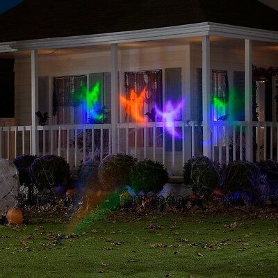 Halloween LED Chasing White Ghosts Light Effect Projector Outdoor Decoration