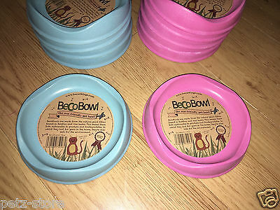shallow cat or small puppy Feeding Bowl Beco Pink blue eco-friendly safe
