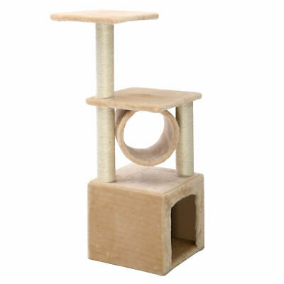 "Beige Deluxe 36"" Cat Tree Condo Furniture Play Toy Scratch Post Kitten Pet House"