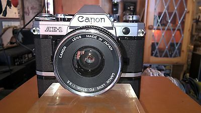 SLR Canon AE1 35mm lens with motor drive excellent condition