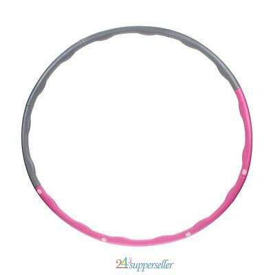 Professional Weighted Foam Padded Fitness Exercise Hula Hoop Abs Workout Massage