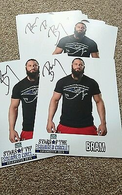WWE WCW TNA bram signed stars in the squared circle promo