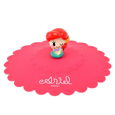 Little Mermaid Ariel Silicone Cup Cover Lid ❤ Disney Store Japan