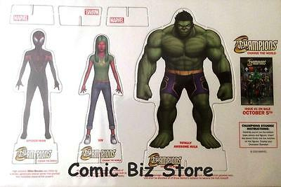 Champions Change The World Promotional Standee Pop Up Vision, Hulk, Miles (2016)