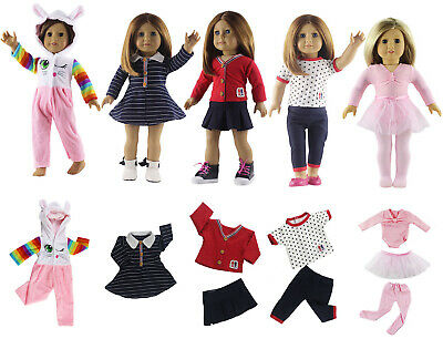 5 * New Style Doll Clothes FOR 18'' American Girl Handmade Princess Dress Outfit