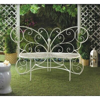 Zingz & Thingz White Butterfly Bench - 57071189