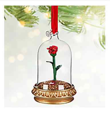 Enchanted Rose Light-Up Disney Sketchbook Ornament - Beauty and the Beast
