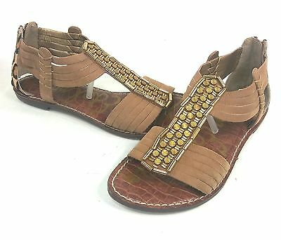 c885a57bc SAM EDELMAN GENESEE Saddle Leather Gladiator Sandal womens 6-10  NEW ...