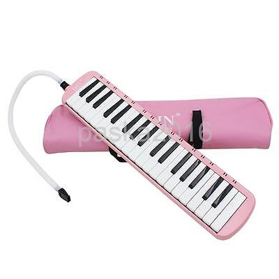 37 Key Melodica Musical Instrument With Carry Bag Music Learners Gift Pink