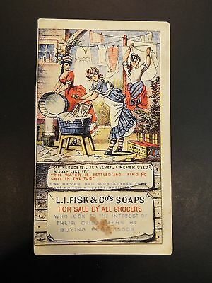 L.I. Fisk & Cos. Japanese Soap Victorian Trade Card 1877