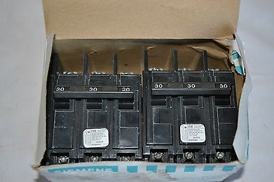2 NEW BQ3B030 Siemens Circuit Breaker 3 Pole 30 Amp 240VAC Bolt-On
