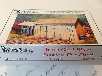 Building & Structure Co S Scale Rico Coal Shed , Section Car Shed Laser Kit 141S