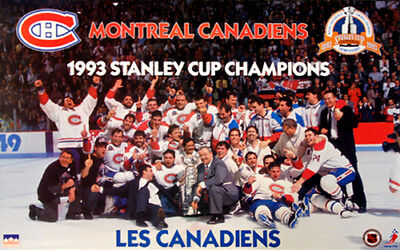 Montreal Canadiens 1993 STANLEY CUP CHAMPIONS On-Ice Celebration Vintage POSTER