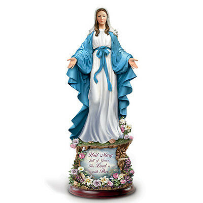 Mother of Mercy Hail Mary Full Of Grace Sculpture Figurine Bradford Exchange