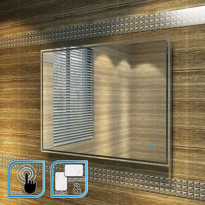 LED ILLUMINATED BATHROOM MIRROR | IP44 |TOUCH  900x700mm
